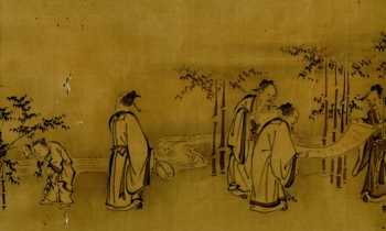 7 Sages Of The Bamboo Grove Yukinobu Wittig Collection Painting 16 Scan 02 Of 03 Centre Section